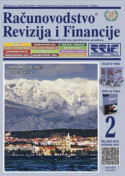 Časopis Računovodstvo, revizija i financije